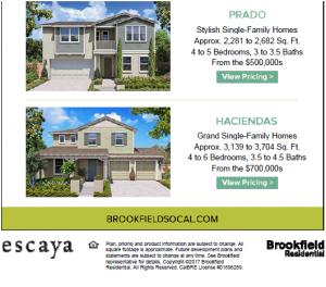 Thông tin giá nhà và chương trình tham quan nhà mẫu nhân dịp khai trương dự án Escaya từ nhà xây dựng hàng đầu Brookfield