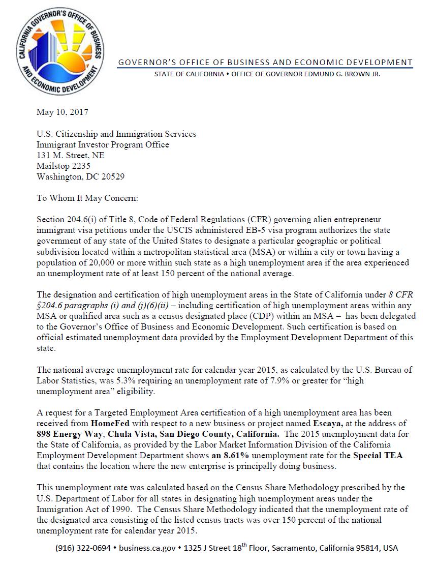 Dự án Homefed nhận phê chuẩn gia hạn khu vực ưu tiên thu hút đầu tư TEA