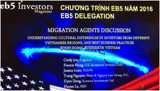 Kornova tư vấn tọa đàm tại hội nghị EB5 hàng đầu Việt Nam