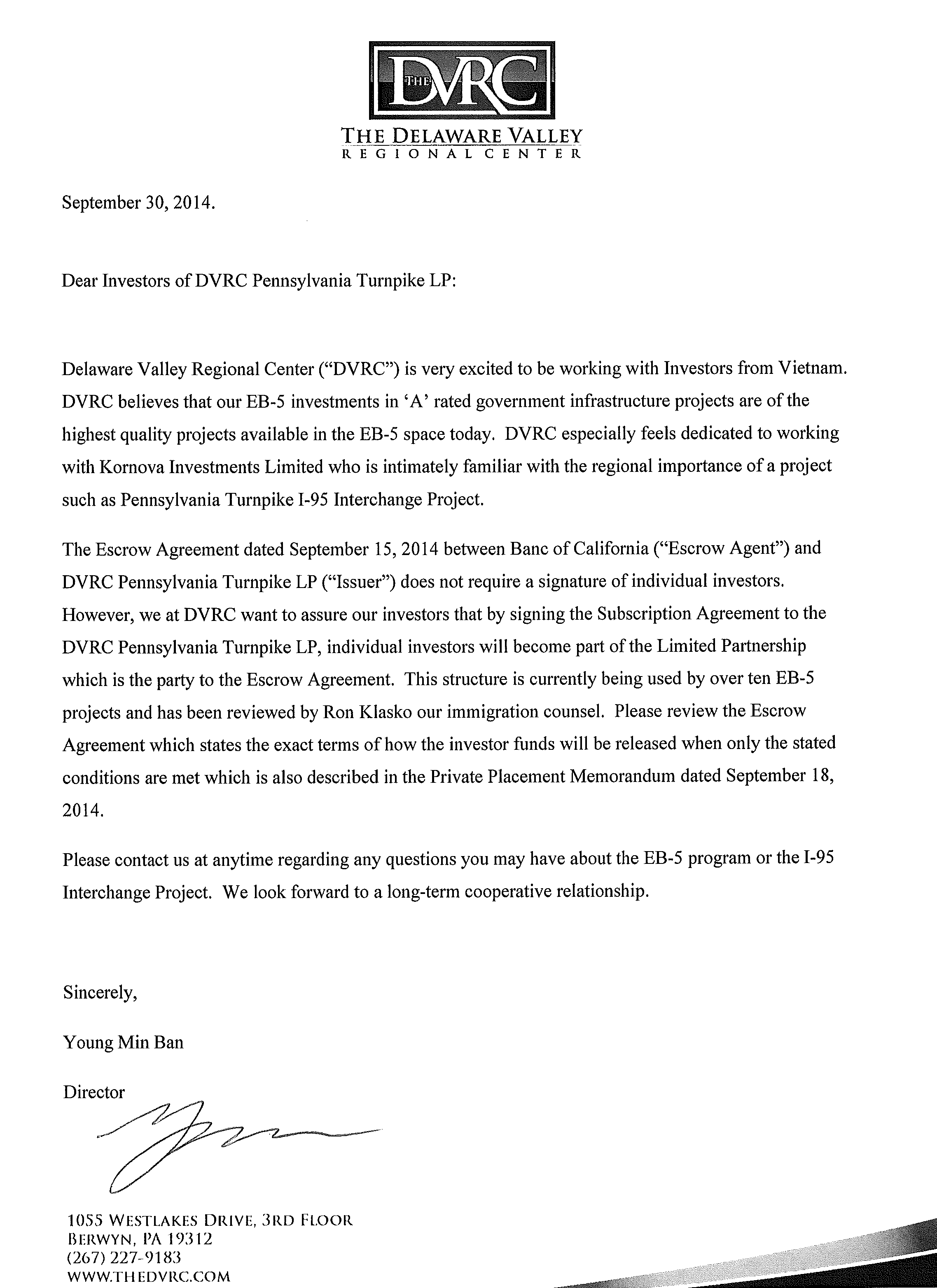 Trung Tâm Khu Vực DVRC Đánh Giá Cao Kinh Nghiệm & Uy Tín Kornova Trong Phát Triển Dự Án Hệ Thống Cao Tốc Liên Bang Pennsylvania