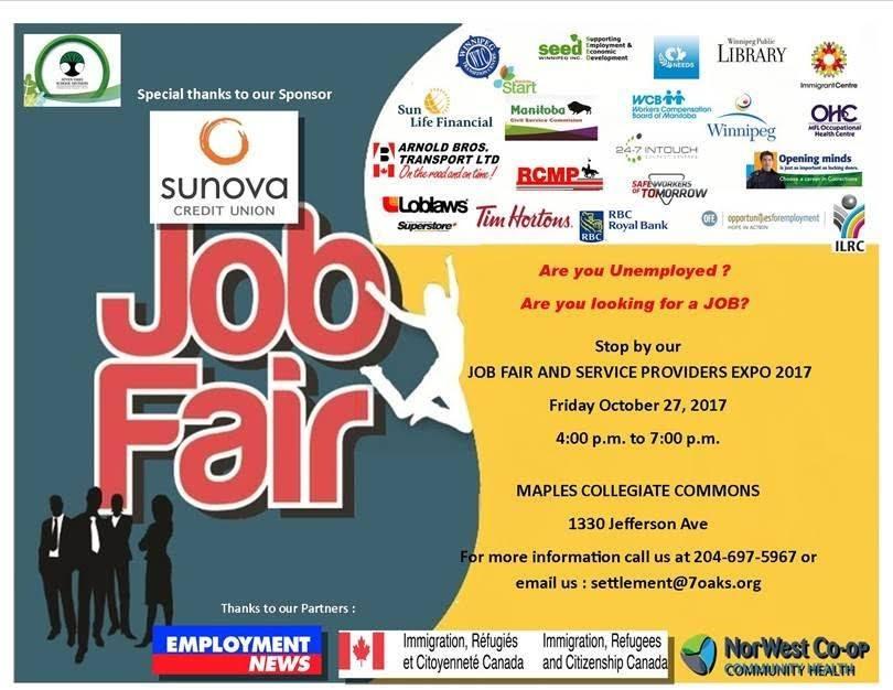 Hội chợ việc làm tại Manitoba, dinh cu Manitoba