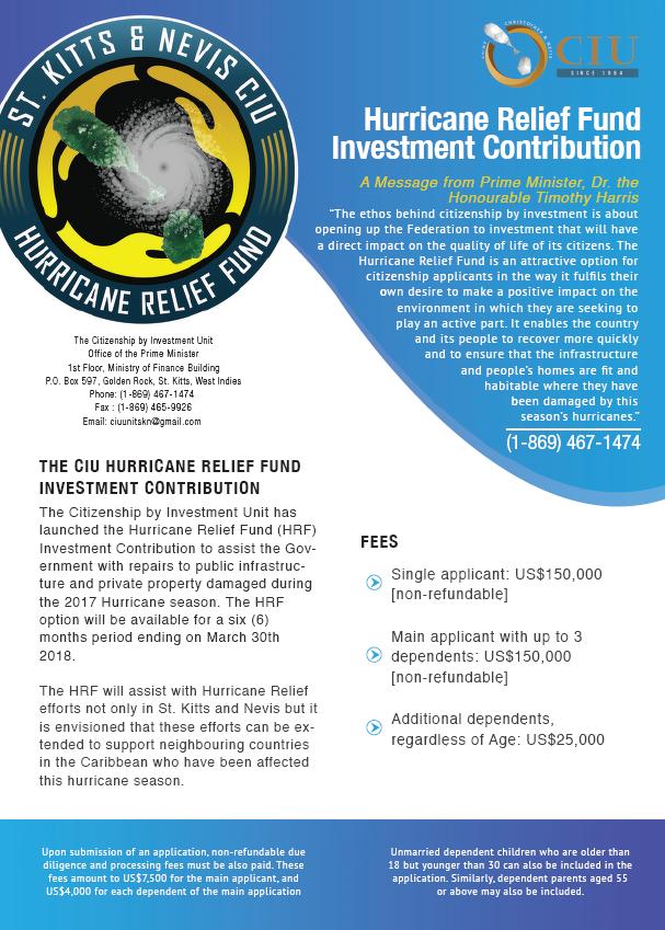 Saint Kitts Thông Báo Chương Trình Đóng Góp Quỹ Cứu Trợ Bão Nhận Ngay Quốc Tịch Khối Thịnh Vượng Anh
