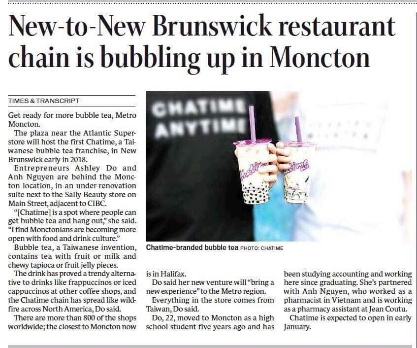 Khách Hàng Kornova Và Câu Chuyện Chuỗi Cửa Hàng Trà Sữa Ở New Brunswick