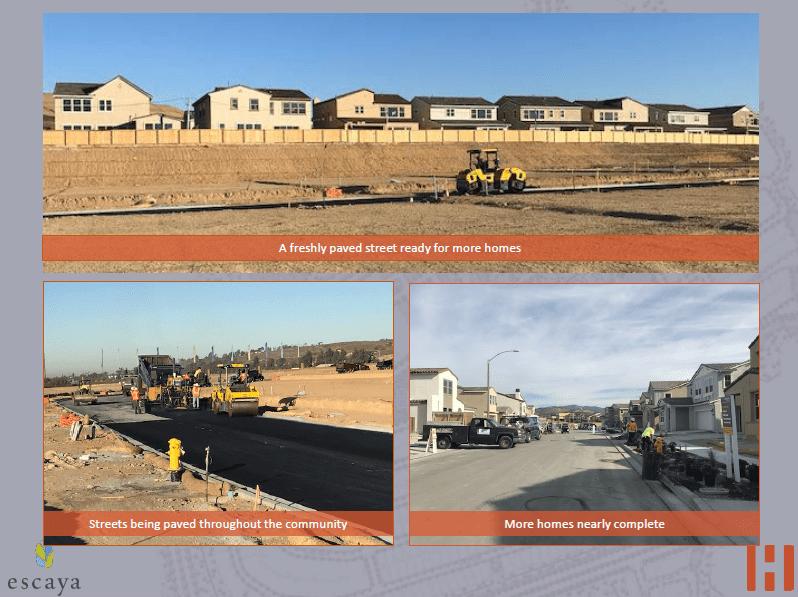Cập nhật xây dựng dự án EB5 Escaya- Homefed 29.12.2017