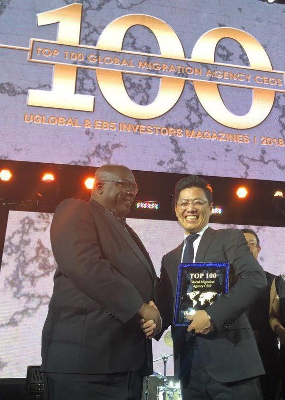 CEO Kornova - Ông Wonjoon Kang Nhận Giải Thưởng TOP 100 CEO Hàng Đầu Thế Giới Năm 2018 Trong Lĩnh Vực Đầu Tư Định Cư