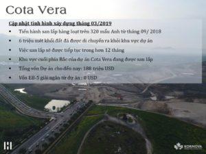 Dự Án Cota Vera: Cập Nhật Tiến Trình Xây Dựng Tháng 03 Năm 2019
