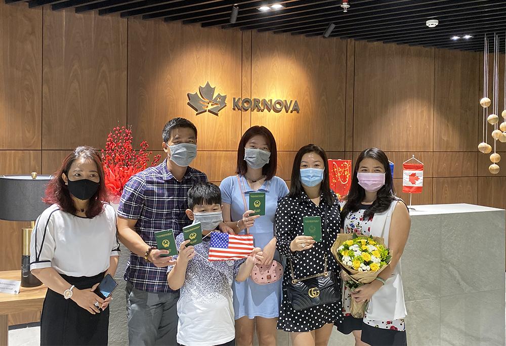 Chúc Mừng Khách Hàng EB-5 Kornova Nhận Visa Và An Cư Tại Mỹ