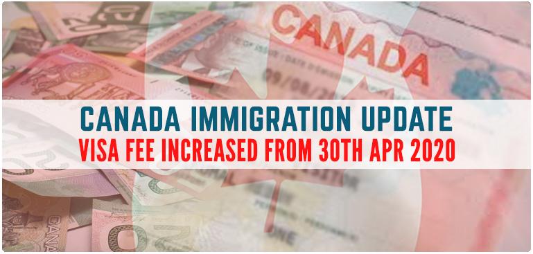 Phí Thụ Lý Hồ Sơ Định Cư Canada Tăng Từ Ngày 30 Tháng 04 Năm 2020