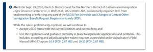 Tòa Án Tạm Đình Chỉ Việc Cục DI Trú Mỹ Áp Dụng Mức Phí Mới