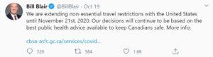 Duy Trì Đóng Cửa Biên Giới Canada và Mỹ Đến Tháng 11/2020