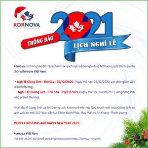 Thông Báo Về Lịch Nghỉ Lễ Giáng Sinh Và Tết Dương Lịch Của Văn Phòng Kornova Việt Nam