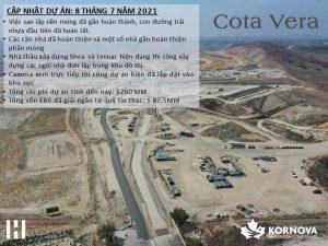 Dự Án Cota Vera - Cập Nhật Tiến Trình Xây Dựng Tháng 07/2021